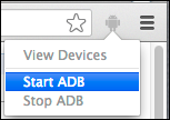 ADB extension menu